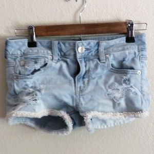 American Eagle Stretch Shortie Distressed Jeans